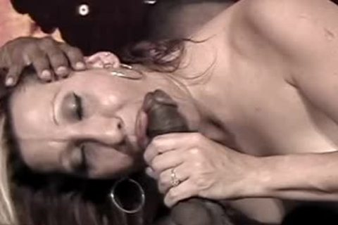 charming concupiscent tgirl Sucks A enormous black 10-Pounder Deepthroat In Her face hole Then bangs