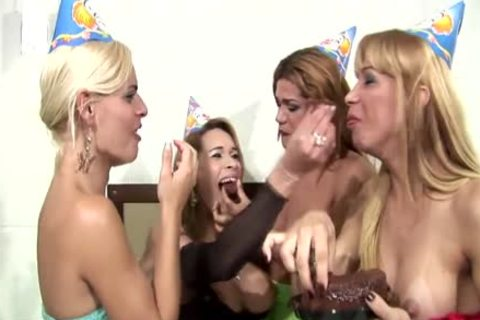 shelady Foursome Have A lusty Party