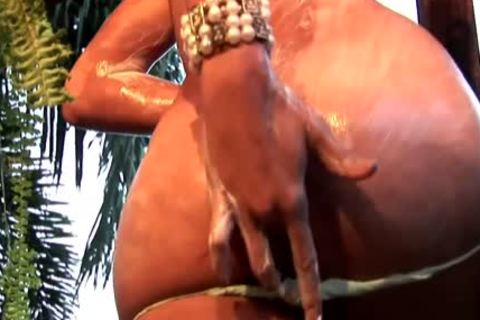 Oiled Up Feminine ladyboy With Puffy nipps Jerks And Cums