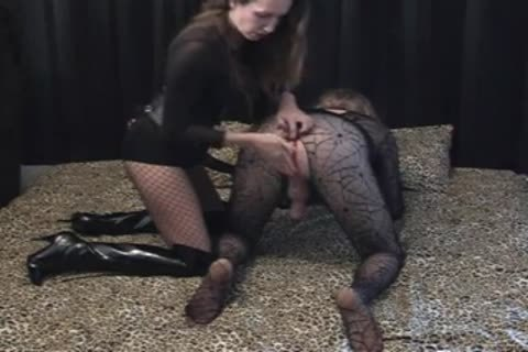female-slavemaster Has fun With Her TV slave