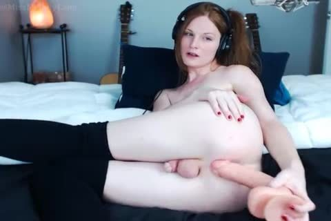 Redhead shemale Melodylanes monstrous dildo anal Chat
