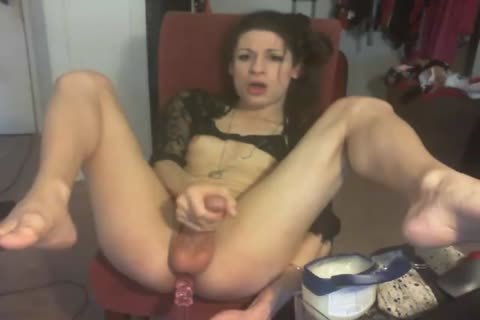 excited American TS Masturbates & butthole Play