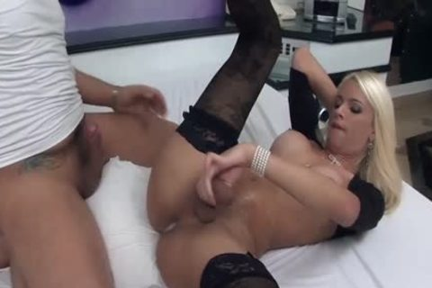 yummy shemale gets Her arse banged By A giant cock