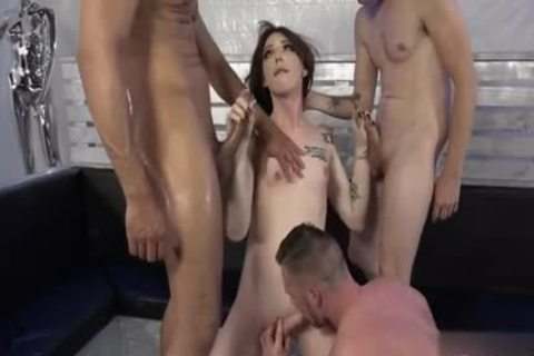 lusty lady-man Dp With sex cream flow