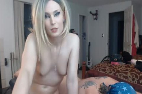 delicious blond tranny Giving Back Massage