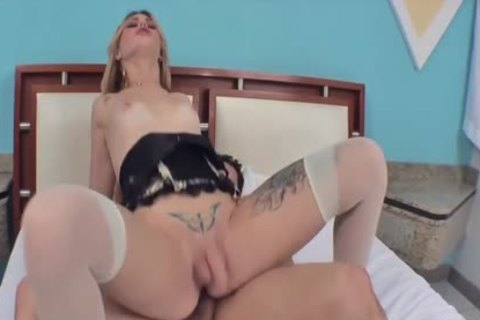 pretty tranny Carla Cardille gets Her ass pounded And Creampied