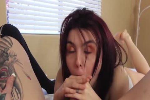 Trans Vixen Chelsea Marie bangs vagina previous to Facial