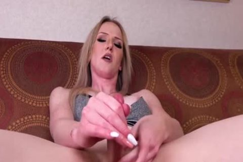 Trans blond Kayleigh Coxx spreads arsehole With fake penis