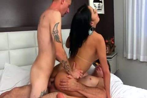 lascivious tranny Mariana Lins Shoves Two unyielding weenies Up Her kinky butthole