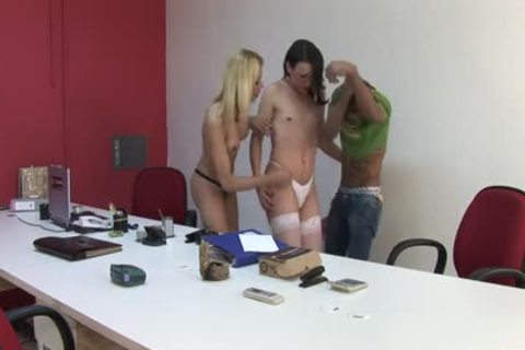 A shemale Office Seduction - Scene 1
