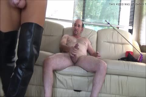 Stefani Boots ass In Chastity ,swallow sperm