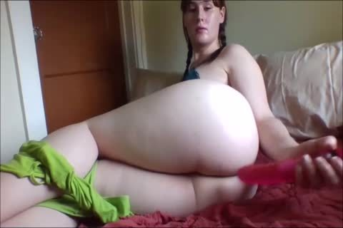 chubby angel And Her Pink fake penis