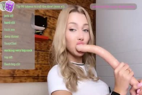Petite Russian blond sheboy Masturbates On cam