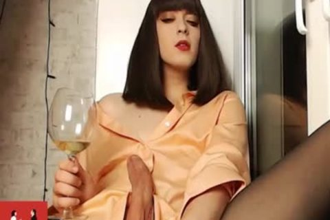 Russian young Trans Lady Vivian In nasty underware Teasing Her gigantic 10-Pounder On cam