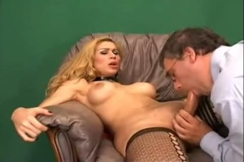 Mutual analhole  With blonde TS At The Office