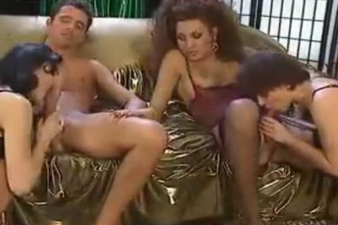 Trans Foursome orgy With A skank