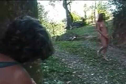 Forest Sex With A slender latina shelady