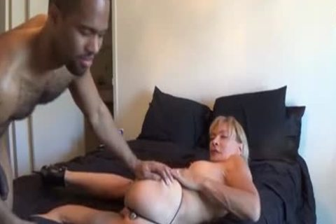 Interracial plow For A blonde t-girl floozy