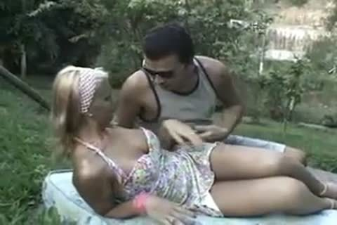 blonde tranny gets her arse Stuffed Outdoor