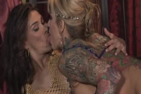 Super Titty shemale And babe Twosome