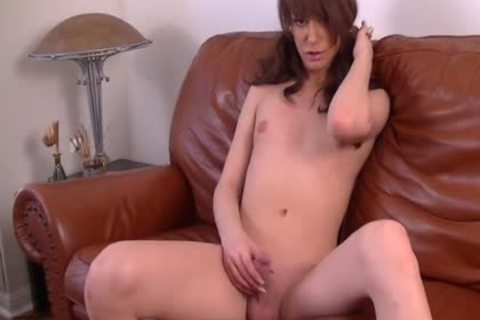 wild brunette this babemale Chloe Rose Jerk-off her dong