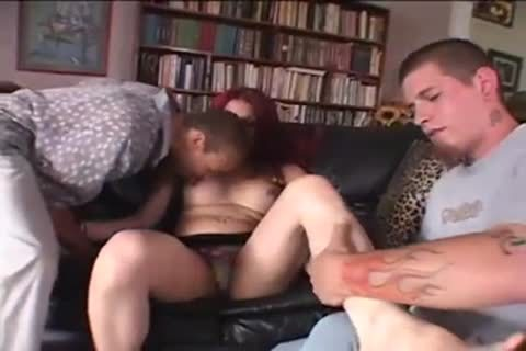 Two Pricks For A Redhead t-girl girl