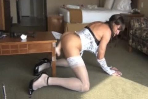 nasty Crossdresser acquires hammered By large D